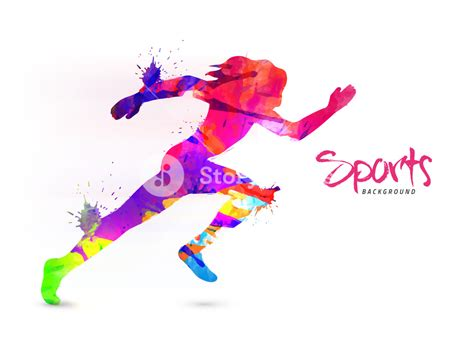 Abstract For Fitness Running 1 creative sports background with abstract colorful illustration of a runner can be used