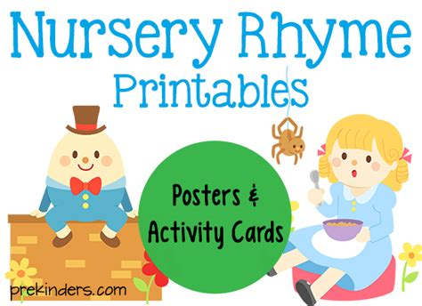 printable nursery rhymes nursery rhyme printables pocket charts pictures of and