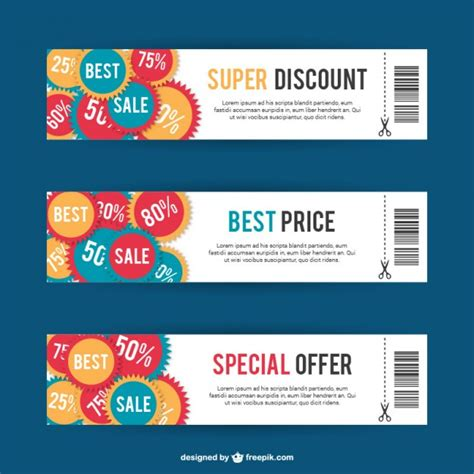 coupon card template discount card templates vector free