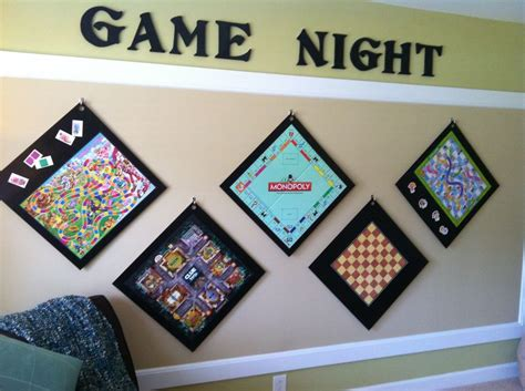 home design decorating 2 games put game boards on wood hang on wall easy access cool