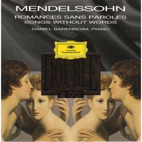 mendelssohn romances sans paroles songs without words - 0001125354 Romances Sans Paroles Songs Without