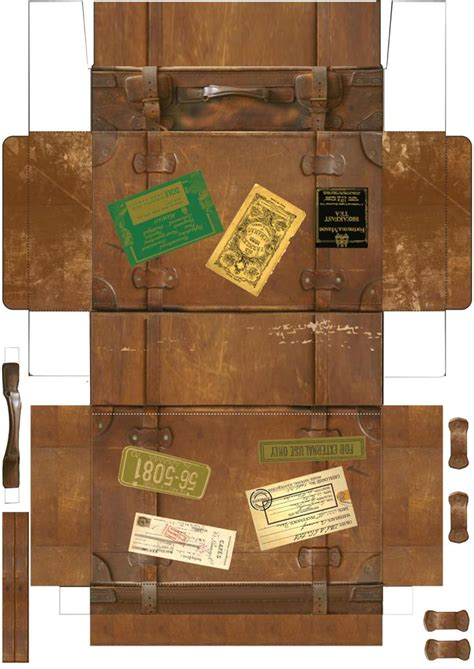 Suitcase Box Template by Suitcase Printable Printables Cases