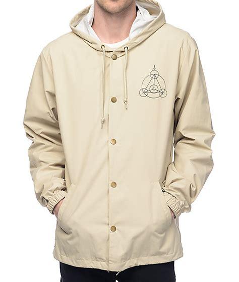 V7v Jacket Crop Restock ripndip crop circles khaki hooded coach jacket zumiez