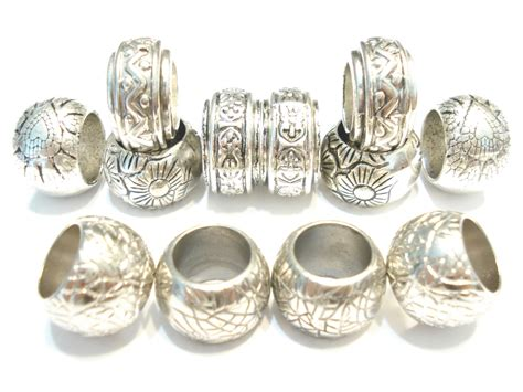12pcs 5 style silver tone scarf rings scarf jewelry accessory