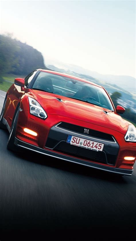 red nissan sports car nissan gtr wallpaper iphone 5c impremedia net