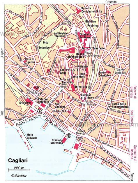 printable road map of sardinia cagliari map