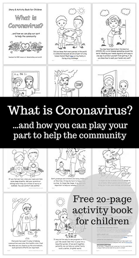 Coronavirus COVID19 Activity Book for Children (Free
