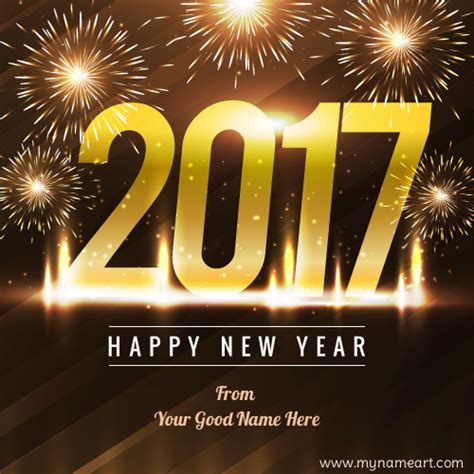 new year wishes writing your name on happy new year wishes pictures