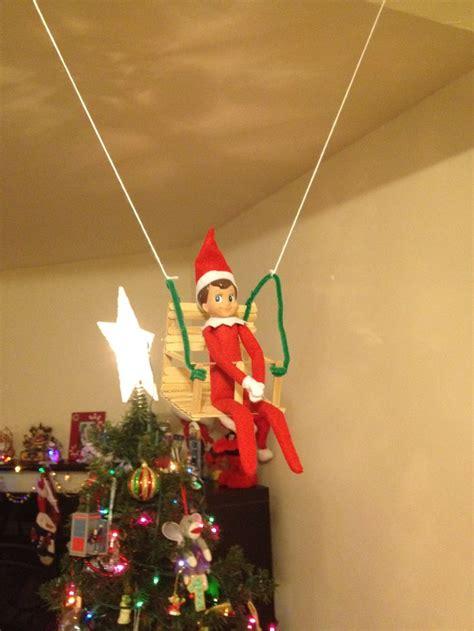 elf on the shelf swing elf on the shelf popsicle stick swing elf ideas
