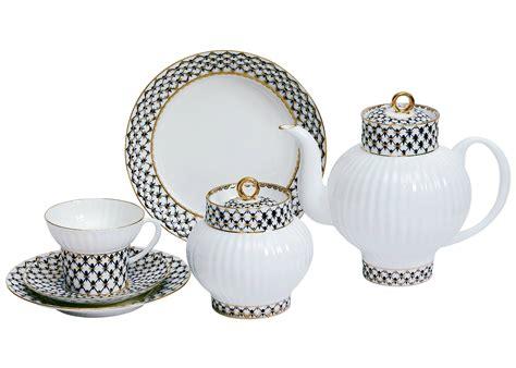 Rumauma Ceramic Tea Pot Set Wave Pattern cobalt net bone china tea set 6 22 wave shape lomonosov porce