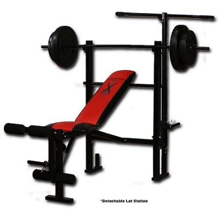 workout bench set with weights competitor weight bench with 80 pound weight set walmart com