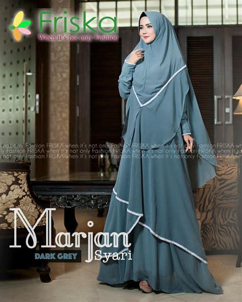 Baju Gamis Murah Delviana Maxi Mattkatun Kaos Resleting Depan marjan baju gamis muslimah syar i by friska fashion jual baju muslim kaos tas wanita untuk