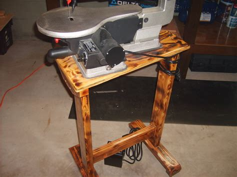 scroll saw bench plans beginner scroll saw stand by jason lumberjocks com
