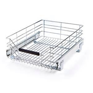 seville classics chrome wire sliding storage