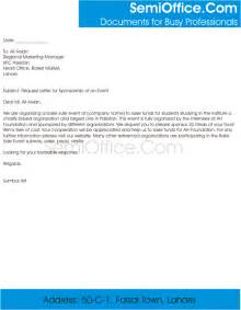 request letter of sponsorship of event semioffice com