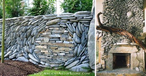 couple creates   beautiful stone walls