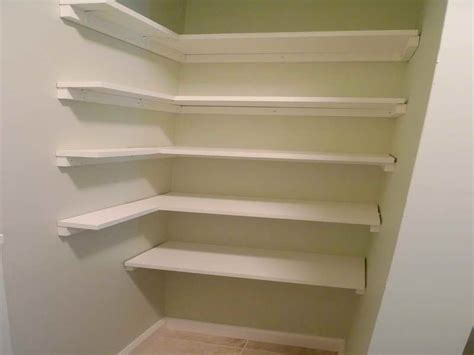 Easy Pantry Shelves by Planning Ideas Pantry Shelving Plans Design Ideas