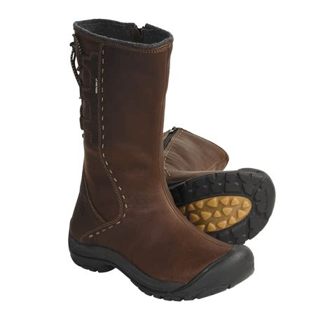 keen winthrop leather boots waterproof wool lined for