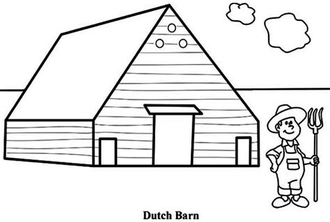 easy barn coloring pages barn coloring pages old barn with animals gianfreda net