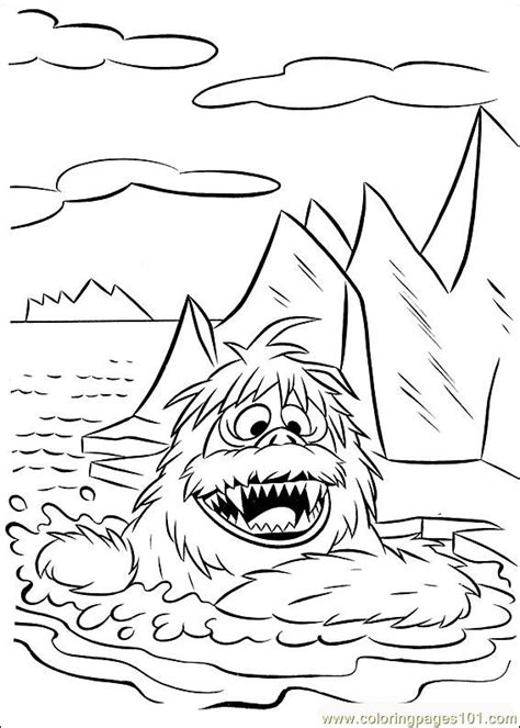 coloring pages abominable snowman rudolph 33 coloring page free rudolph the red nosed