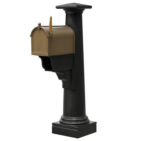 mayne statesville mailbox post in black the home depot