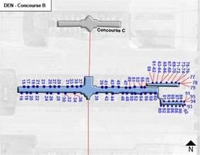 denver airport map us airways denver airport den concourse b map