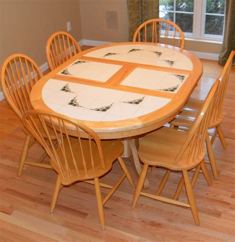 dining table with six chairs tile and wood dining table with six chairs ebth
