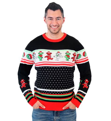 best play to get ugly christmas sweaters in az grateful dead bears unisex sweater