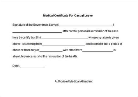 medical certificate template 22 free word pdf