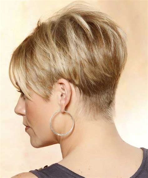 wedge cut for thick hair short bob wedge haircut back view short hairstyle 2013