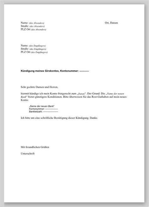 girokonto bank austria vorlage k 252 ndigung konto gr 252 ne aktien