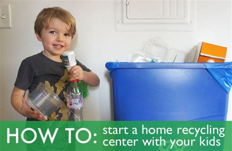 how to set up a home recycling center with your