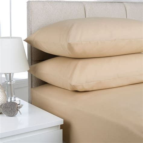 single bed sheets plain dyed single bed fitted sheet beige buy online at
