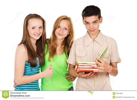 Reading Friends by Students Friends Read A Book Royalty Free Stock Photo