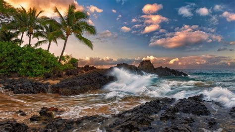 Free Search Hawaii Us State Hawaii Island Ocaen Rocks Wallpaper Stylishhdwallpapers