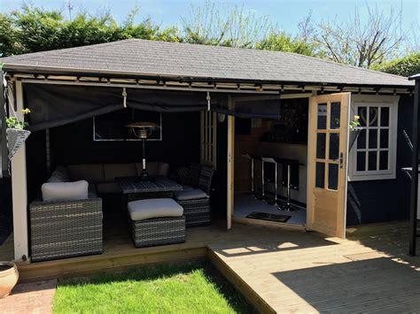 gazebo 3x5 jannie log cabin 3x5 76m with gazebo
