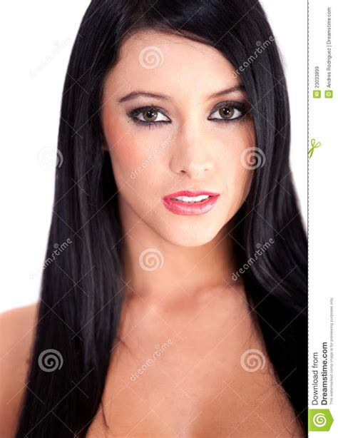 women with dark hair pics beautiful dark hair woman stock image image of smiling