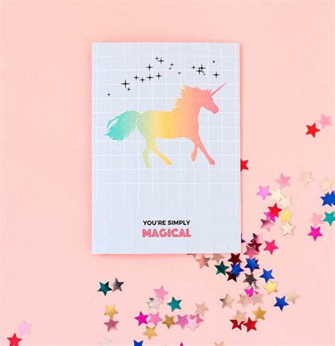 free printable birthday card unicorn magical unicorn printable greeting card