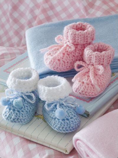 Free Ong Bag Baby 5in1 easy baby booties crochet pattern