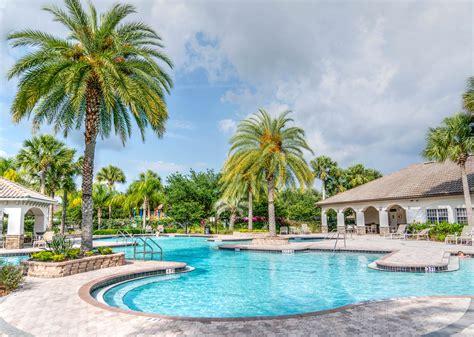 stock photo  palm trees paradise pool