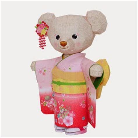 Teddy Papercraft - papercraft kimono teddy papercraft4u free