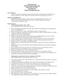 Property Management Resume Exles by Best Resume Templates For Assistant Manager