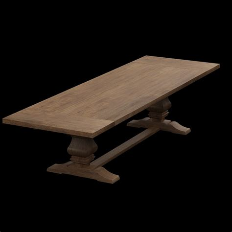 Dining Table Hardware 3d Restoration Hardware Extension Dining Table High Quality 3d Models