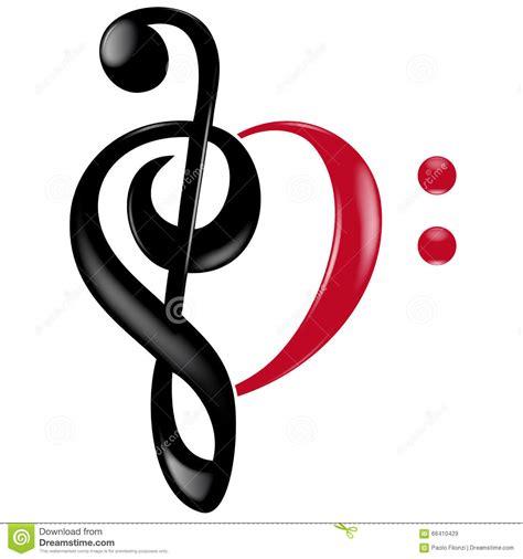 imagenes de notas musicales en forma de corazon llaves musicales del coraz 243 n stock de ilustraci 243 n imagen