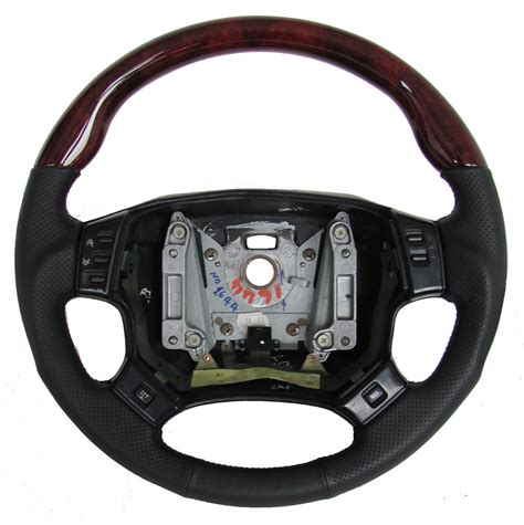 land rover steering wheel cover gloss walnut wood leather sport steering wheel range rover