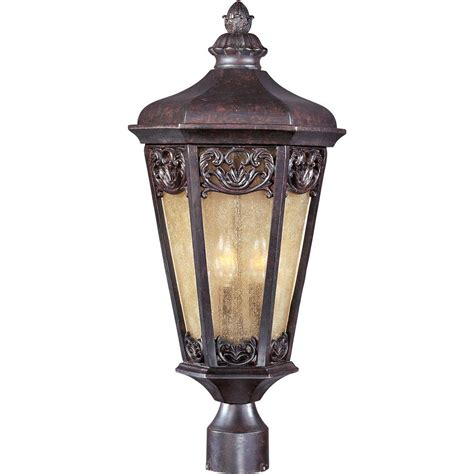 Outdoor Colonial Lighting Maxim Lighting Crown Hill Outdoor Pole Post Mount 1035rp The Home Depot