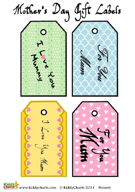 used the same paper as the food tags to make these watter bottle free paper and tags for your mothers day messages and gifts