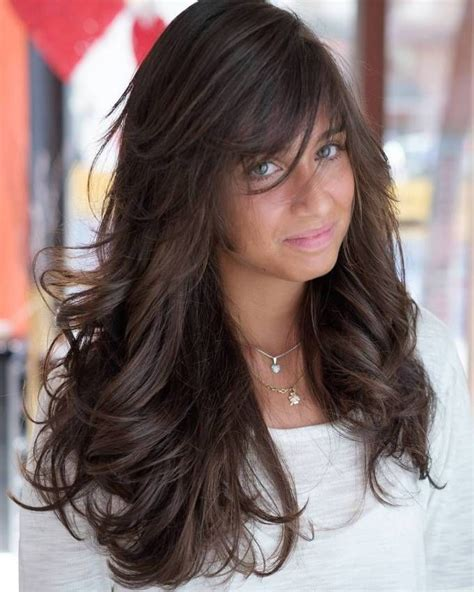 long haircut feathered up sides 40 side swept bangs to sweep you off your feet brown