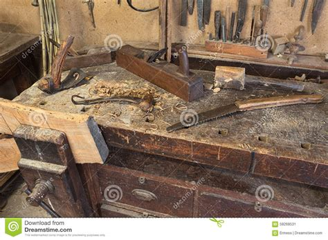 carpentry and woodworking carpenter s bench stock image image of craft tool