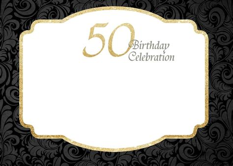 Free Printable 50th Birthday Invitations Free Printable Birthday Invitation 50th Birthday 50th Anniversary Templates Free